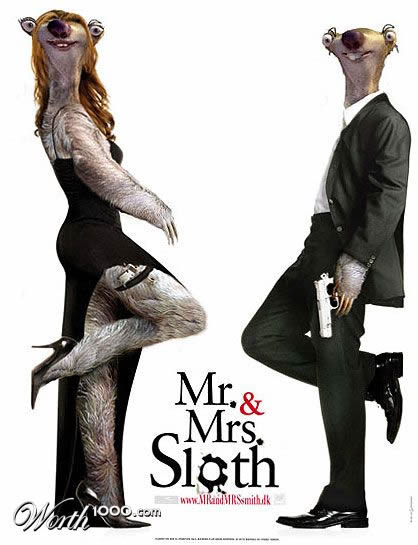 mr and mrs sloth by sabrnig 80+ posters of animated films diverted