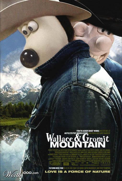 wallace and gromit mountain by chther11 80+ posters of animated films diverted