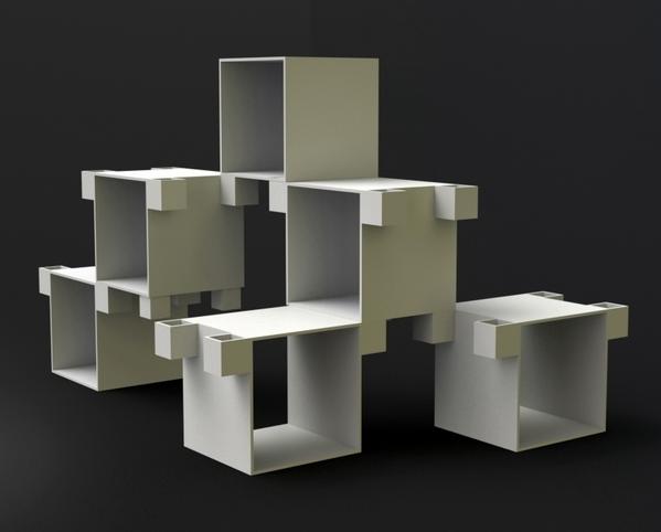 1611611270237956 Profilebookcase and Hexa Speakers by Cláudio Cigarro