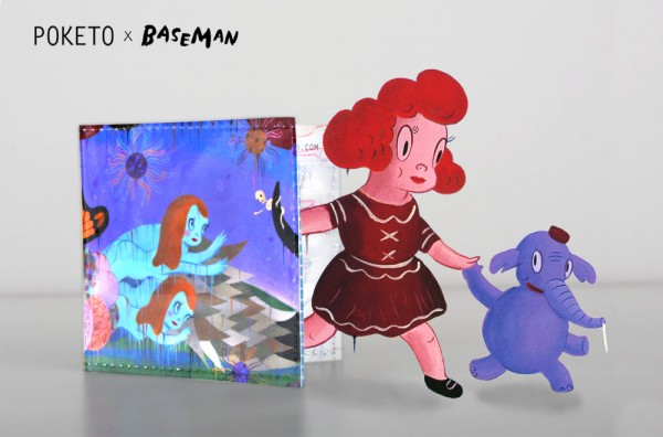 BASEMAN 01 600x396 Poketo x Gary Baseman Wallet Series