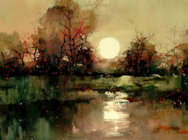 ZLFeng10 600x448 the Design Cove  |  12 Beautiful Landscape Watercolors