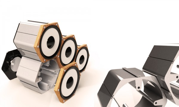 extrosão colunas modulares 600x360 Profilebookcase and Hexa Speakers by Cláudio Cigarro