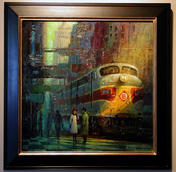 late train 600x586 Samuel Michlap Paintings