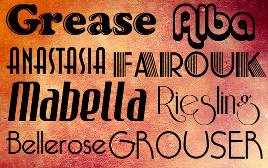 rf01 Free Retro Fonts – Bring Refinement and Nobility into Your Design