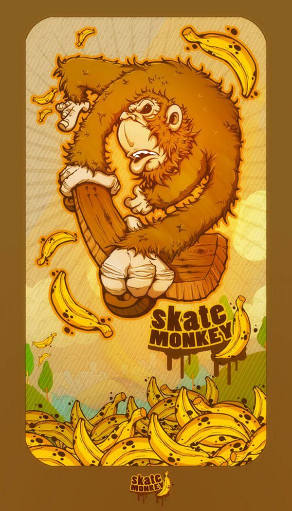 skate monkey by dogsdraw dogsdraws art