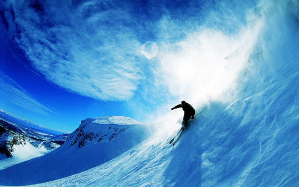 skiing over snow 1920x1200 Stunning Wallpapers For Your Desktop #5