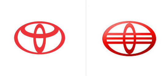 tyota 20 Coincidentally Identical Logos !!