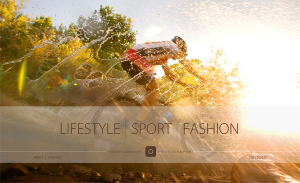Todd Langley Photography // One Of The Leading Sport And Lifestyle Photographers @ 100 Best Flash Websites
