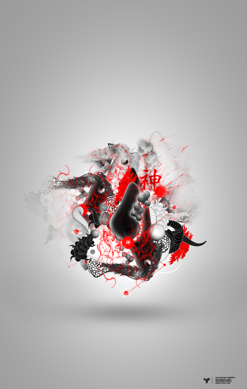 20 Create Custom Shapes for an Amazing Asian Inspired Abstract Artwork