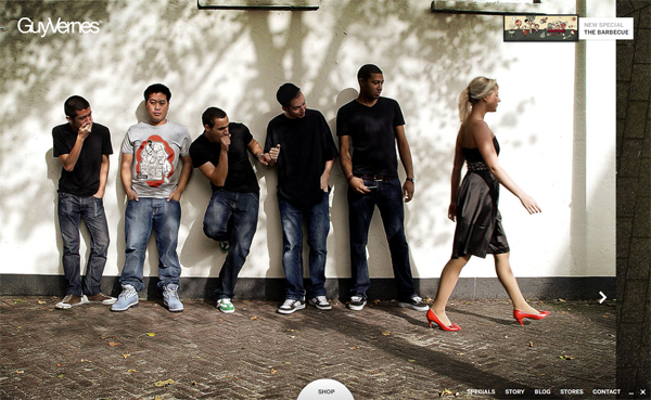 Guy Vernes // Simply The Way We Dress @ 100 Best Flash Websites