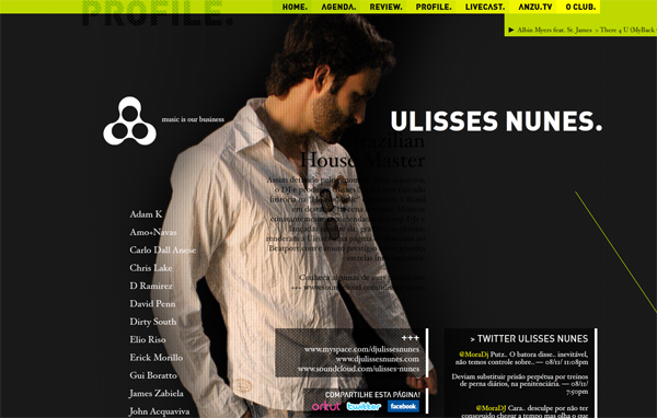 224 Anzuclub // One Of The Most Recognized Night Clubs At The State Of São Paulo @ 100 Best Flash Websites