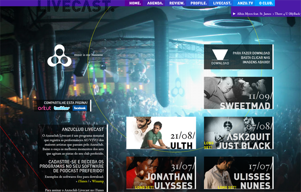 334 Anzuclub // One Of The Most Recognized Night Clubs At The State Of São Paulo @ 100 Best Flash Websites