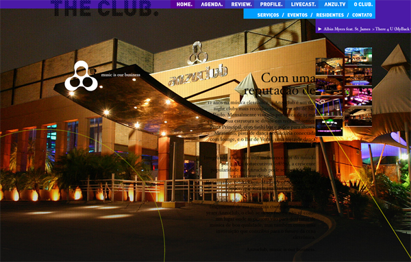 444 Anzuclub // One Of The Most Recognized Night Clubs At The State Of São Paulo @ 100 Best Flash Websites