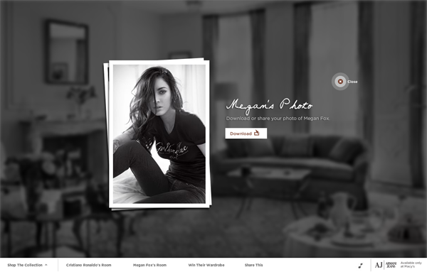 446 Armani Jeans // In The Hotel Room with Cristiano Ronaldo and Megan Fox @ 100 Best Flash Websites