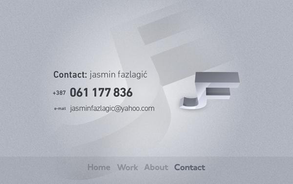 448 Jasmin Fazlagic // A Fun And Straightforward Photography @ 100 Best Flash Websites