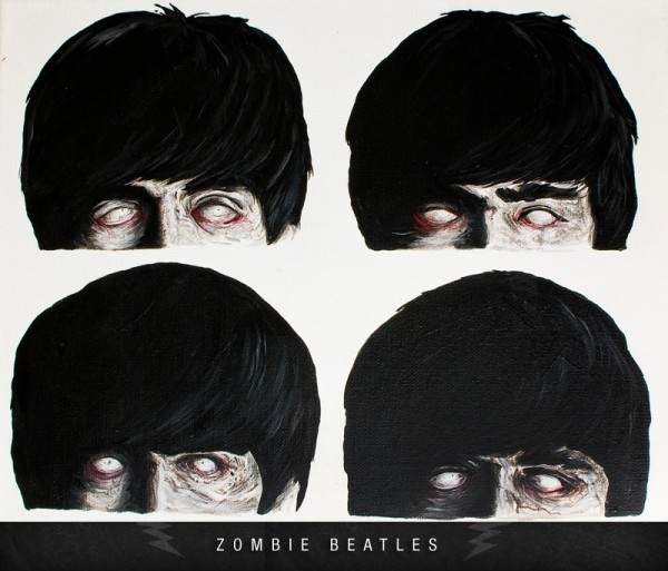 zombiebeatles 600x513 Zombie Celebrities