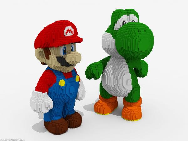 Mario et yoshi lego Mario and Luigi on lego