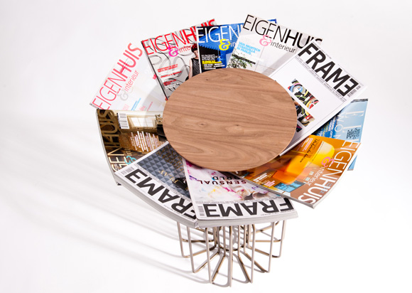 amarant4 Amarant magazine holding table by Spell