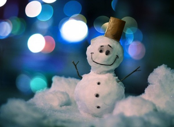 bokeh snowman xmas snowman bokeh large 600x438 20 Beautiful Examples of Christmas Bokeh
