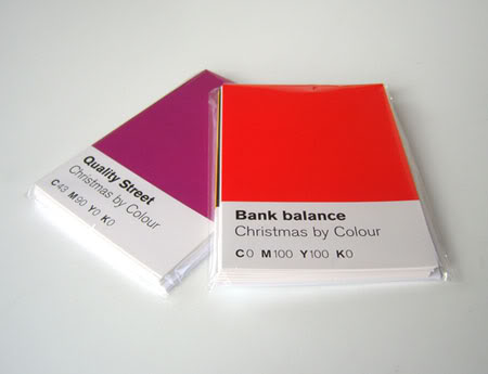 christmasbycolourscards1 Pantone Style Christmas card from 12 designers