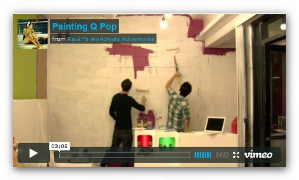 fordytqpop Painting a mural at Q Pop (video)