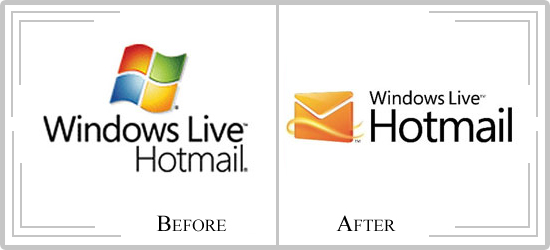 hotmail  Logo Redesigns of 2010 – The Good and Not So Good Ones!