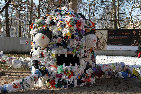 pm1 Monster Made Out of Plastic Bags
