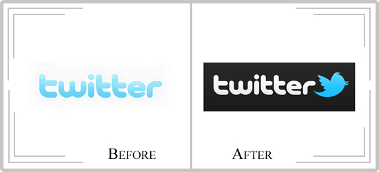 twitter1  Logo Redesigns of 2010 – The Good and Not So Good Ones!