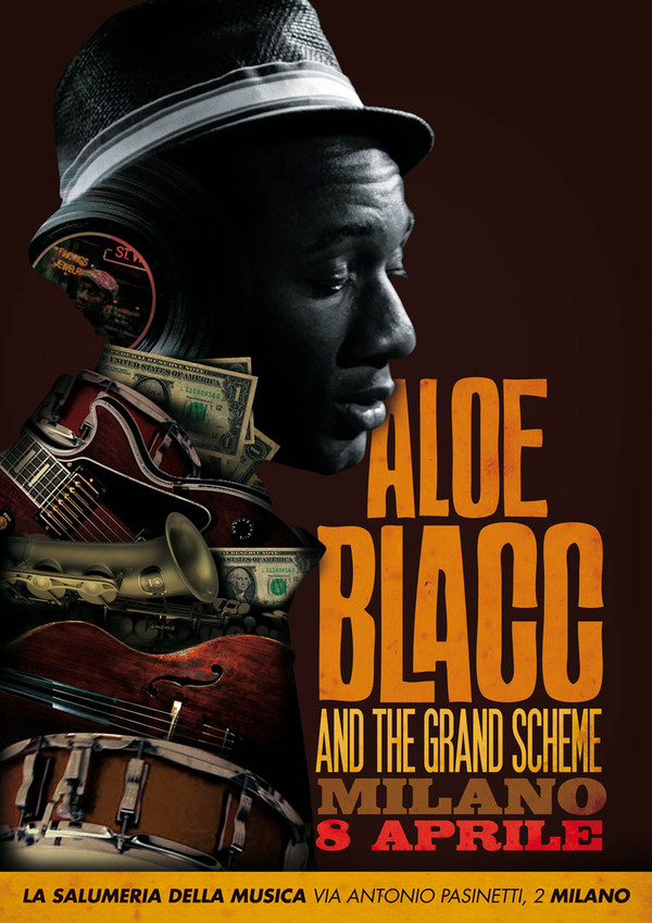Aloe Blacc @ Milan (Unofficial Poster)