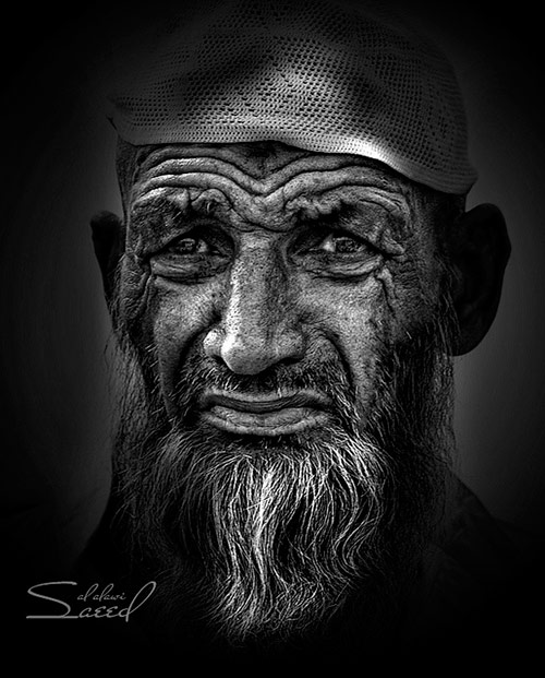 F1c faces of old people in black and white photography