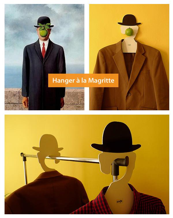 185 Coat Hanger, Inspired by Rene Magritte