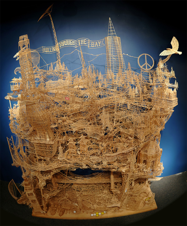 186 One man, 100,000 toothpicks, and 35 years: An incredible kinetic sculpture of San Francisco