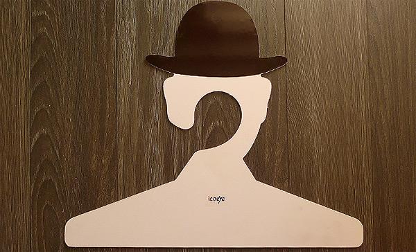256 Coat Hanger, Inspired by Rene Magritte
