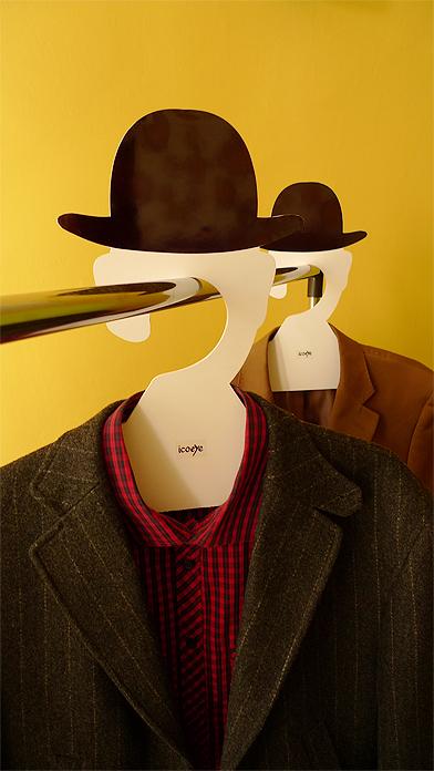 433 Coat Hanger, Inspired by Rene Magritte