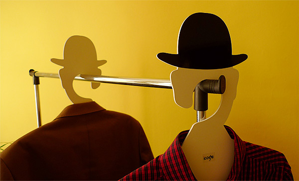 524 Coat Hanger, Inspired by Rene Magritte