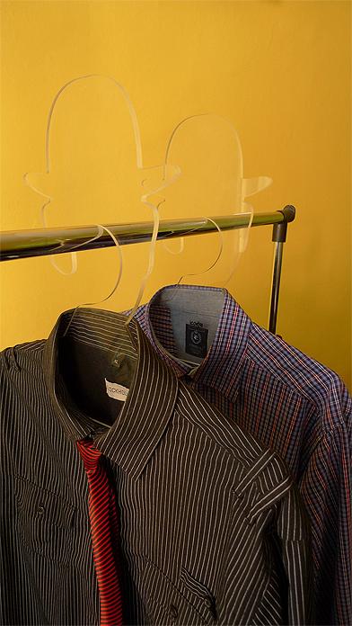 613 Coat Hanger, Inspired by Rene Magritte