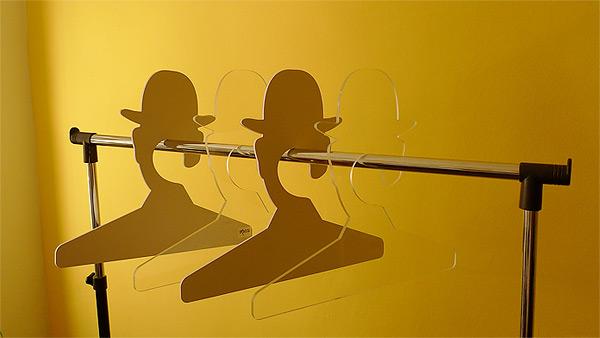 714 Coat Hanger, Inspired by Rene Magritte