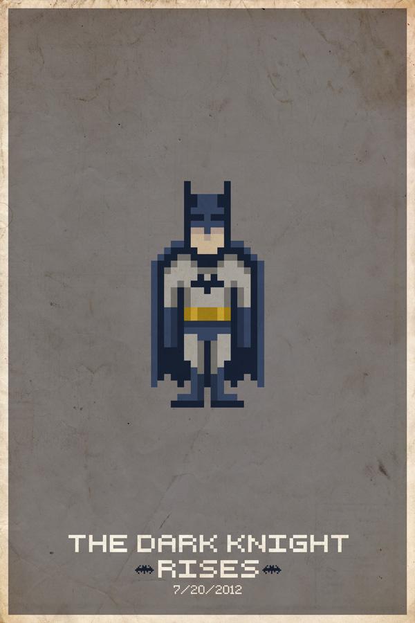 BatmanPixelPoster Comic Book Movie Pixel Posters