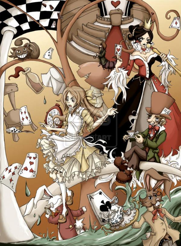 alice in wonderland  by deadcherry600 814 Art Work of Alice in Wonderland