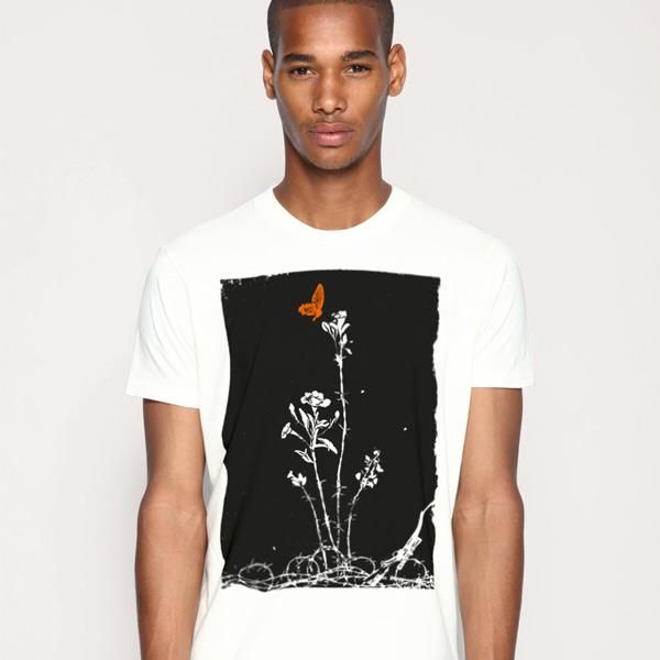 graphic t shirt desing q3mx1zqg7f Barbed Flower   Concrete Rocket t shirt