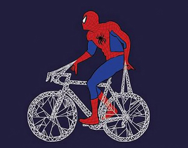 mike joos art 5 450x354 Mike Joos – Superheroes on Bicycles