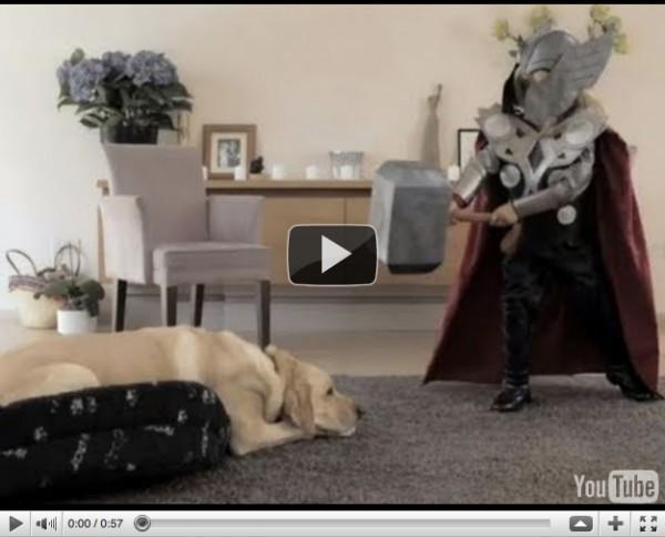 thor 600x484 Marvel Little Thor    Volkswagen starwars parody