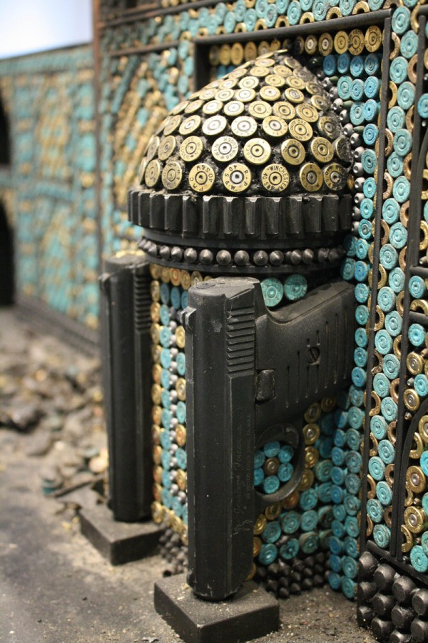 Religious recreations using ammunition and firearms » Design You Trust – Social design inspiration!