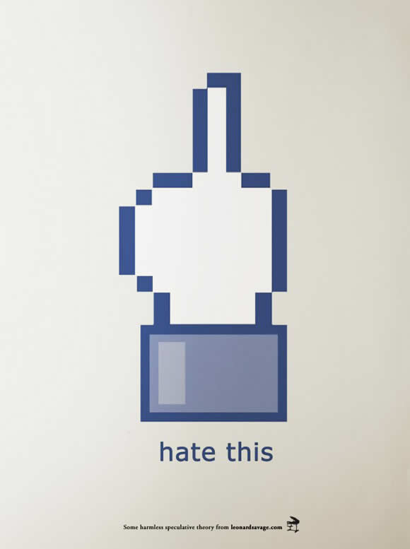 Facebook icons Remix i like this with hate, fuck, rock this
