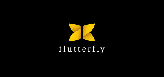 flutterfly gradient logo Logo Design Inspiration: Simplicity in Gradient Logos