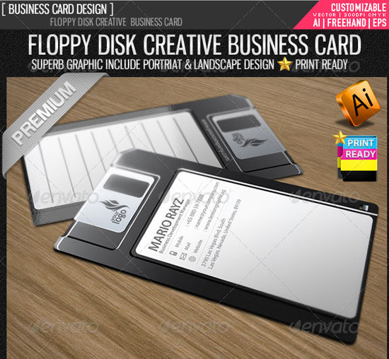 Floppy Preview Unique Business Card Templates