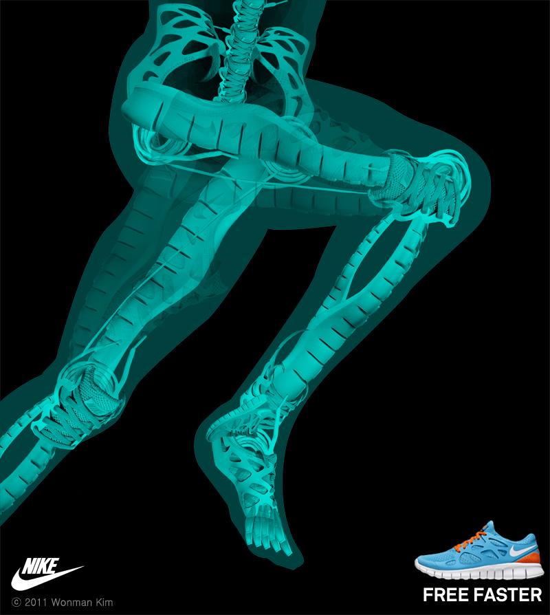 Nike Free faster freerun closeup2 wonman kim 800s1 Nike T shirts Work Nike Free Faster