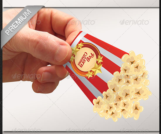 Popcorn Preview Unique Business Card Templates