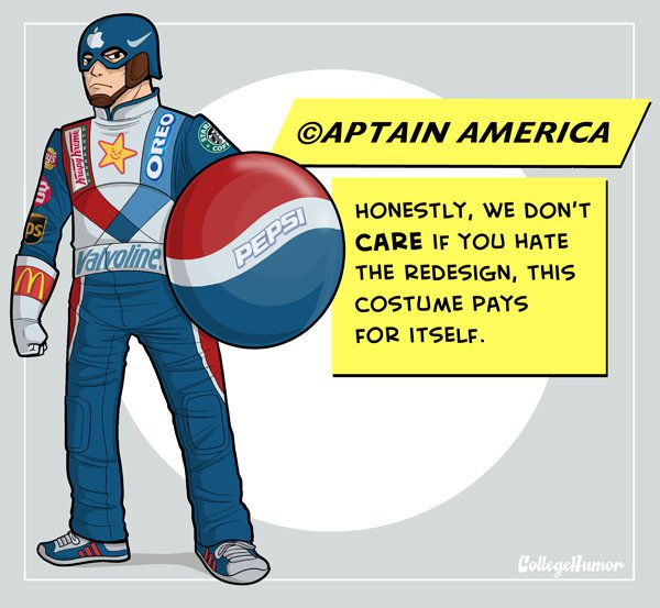 captain america bad superhero redesign