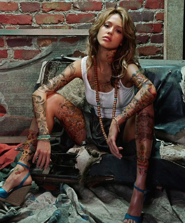 jessica alba tattoo contest celebrity body art